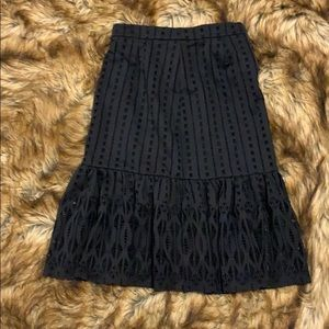 Anthrax midi skirt